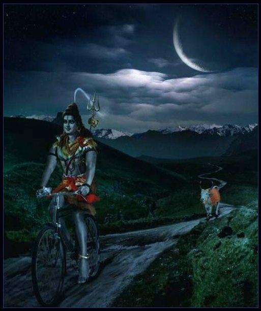Mount Hd Wallpaper: Shiva And Nandi By Moonlight