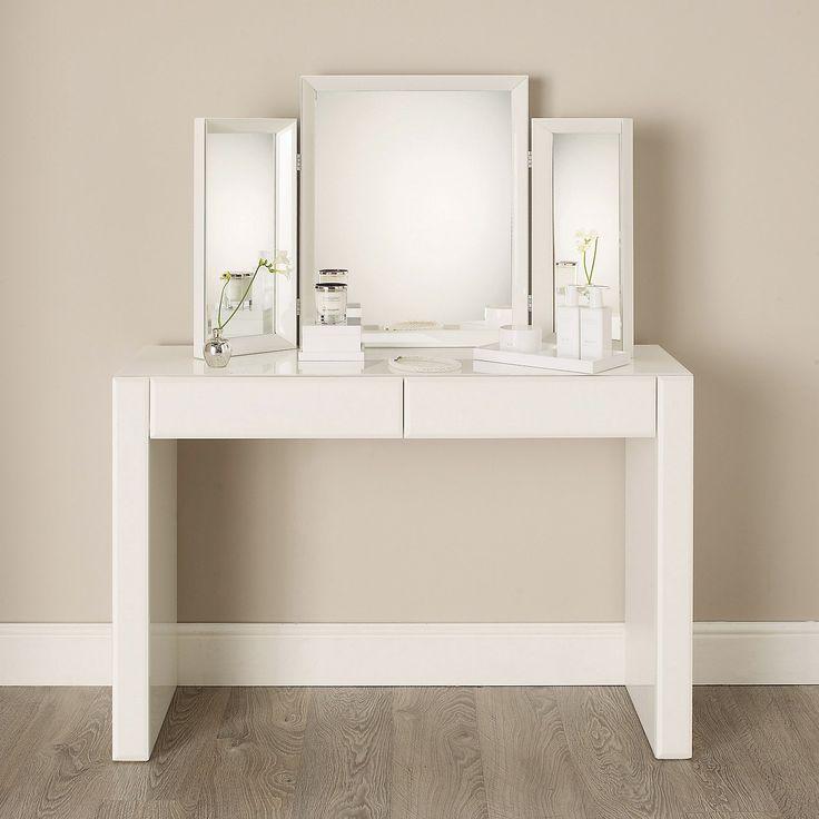 Carlton Glass Dressing Table - White Furniture   The White Company