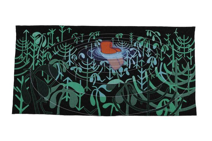 Titel     nickname 'Ophelia' Objectnaam     wandtapijt Inventarisnummer     10676 Standplaats     zaal 32  Vervaardiging  Makers     Allart Lakke     Textielmuseum Tilburg Datering     2007 Materialen     katoen, viscose, acryl Techniek     jacquardweefsel