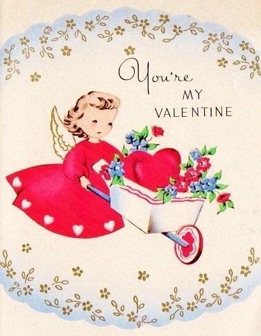 54 best Vintage valentine Cards  Angels  Cupids images on