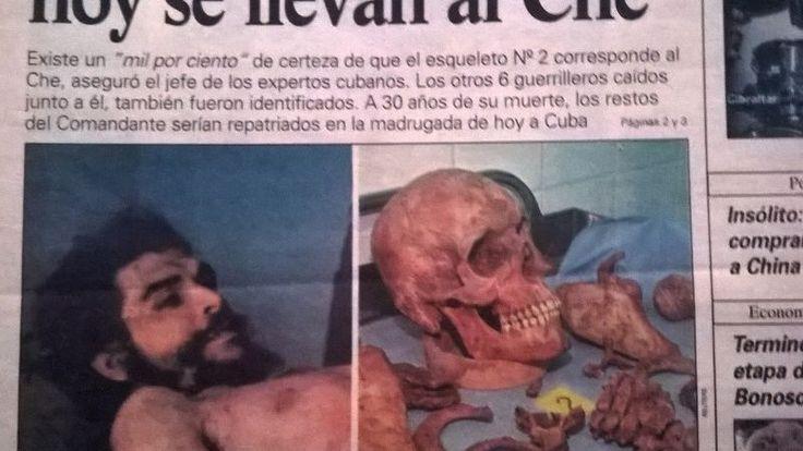 Tapa del periódico 'Hoy' el día en que confirmaron el descubrimiento de los restos del Che en Valle Grande.