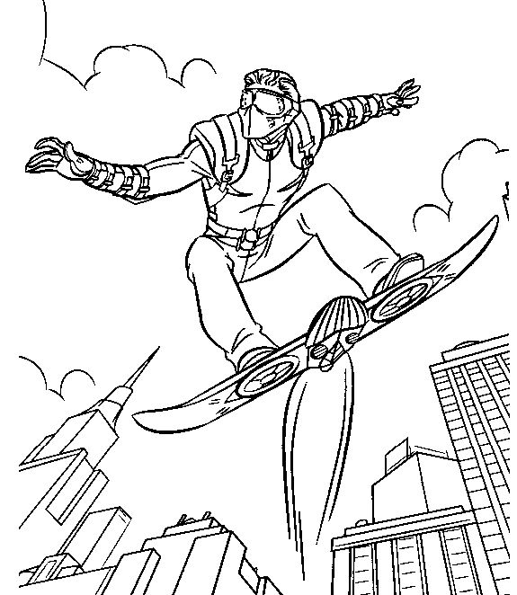 Spiderman Vs Green Goblin Coloring Pages