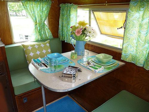 Cottage Hill: My Vintage Camper....ideas for my old/new camper office,  could be an adventure.
