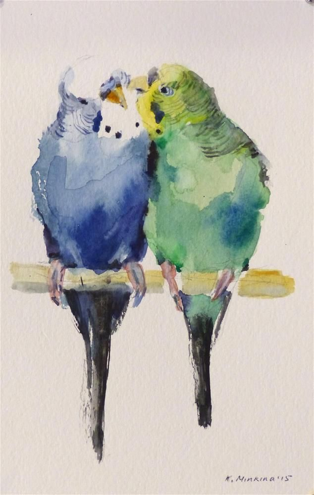 566 best watercolor birds images on pinterest little for Painting for sale by artist