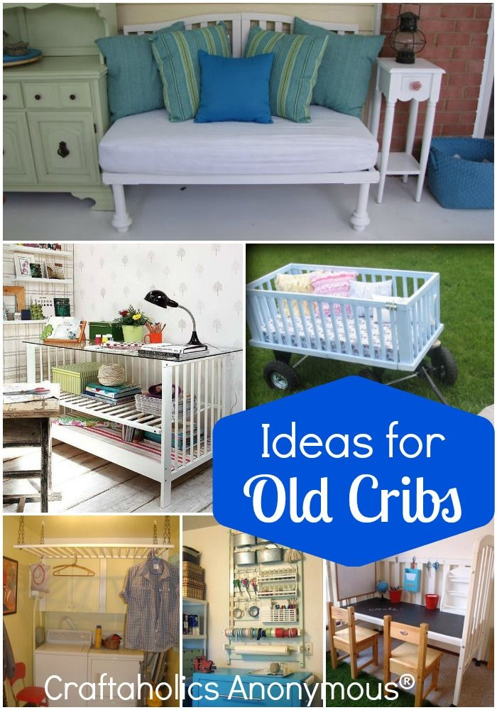 Loads of great reuses and ideas for old cribs. So many creative uses!