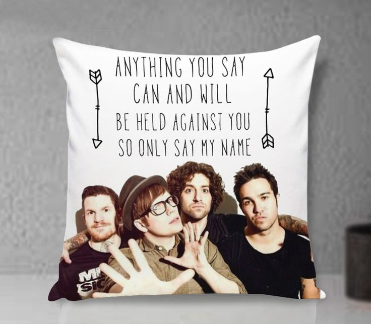 Pillow Cover, Fall Out Boy Lyric Pillow - Custom Pillow cover - Pillowcases by clingartshop on Etsy   #pillow #Case #Custom #Personalized #Quote #Magcon #Gift