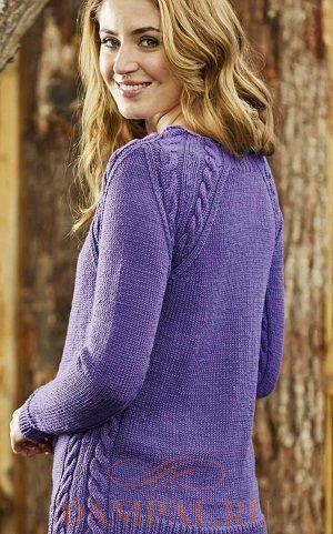 Пуловер реглан «Purple Haze»