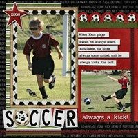 Gallery Projects - Scrapbooking - Sports - soccer - Two Peas in a Bucket