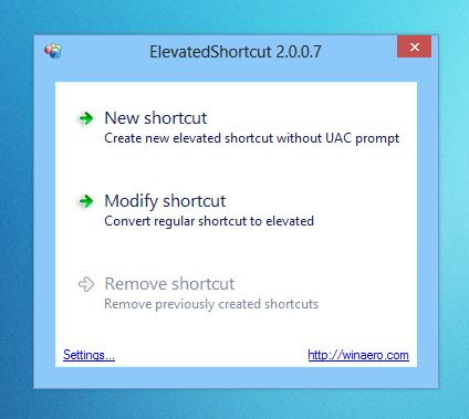 Disable UAC Prompts For Select Windows Apps With ElevatedShortcut
