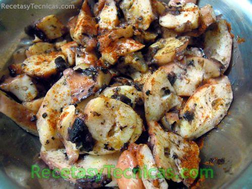 Jibia al ajillo   Recetas de cocina