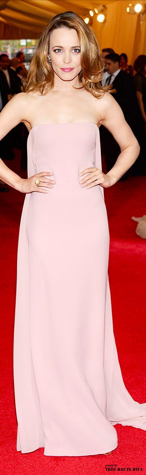 Rachel McAdams wore a dress from the Ralph Lauren Autumn /Winter 2014 collection to the Met Gala 2014