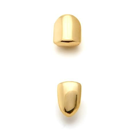 King Ice Gold Single Tooth Cap Grillz
