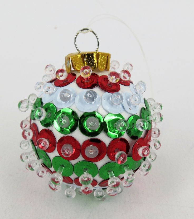 Decorate your own Christmas ornaments using Shamrock Craft's decofoam ball.