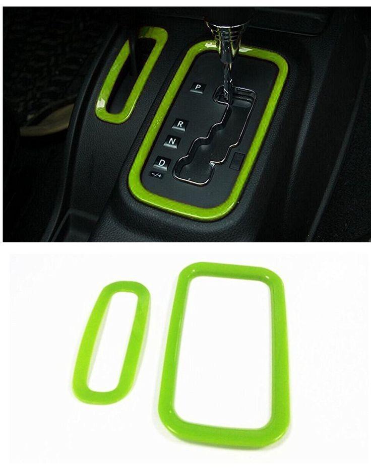 Amazon.com: E-cowlboy Gear Shift Knobs Cover Trim for Jeep Wrangler JK & Unlimited 2/4 door 2012-2016 (Green): Automotive