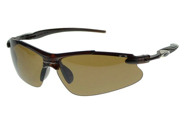 Wholesale Cheap Oakley Half Jacket Sunglasses Black Frame Brown Lens#Oakley Sunglasses
