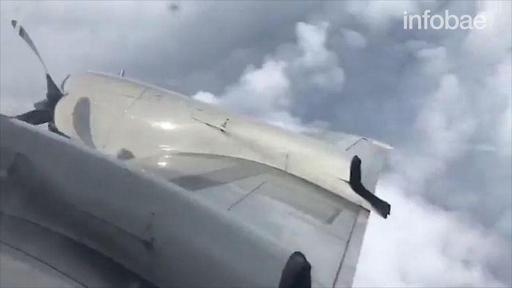 """El impactante vuelo de un avión """"caza tormentas"""" que atravesó el ojo del huracán Irma y captó toda su furia"""