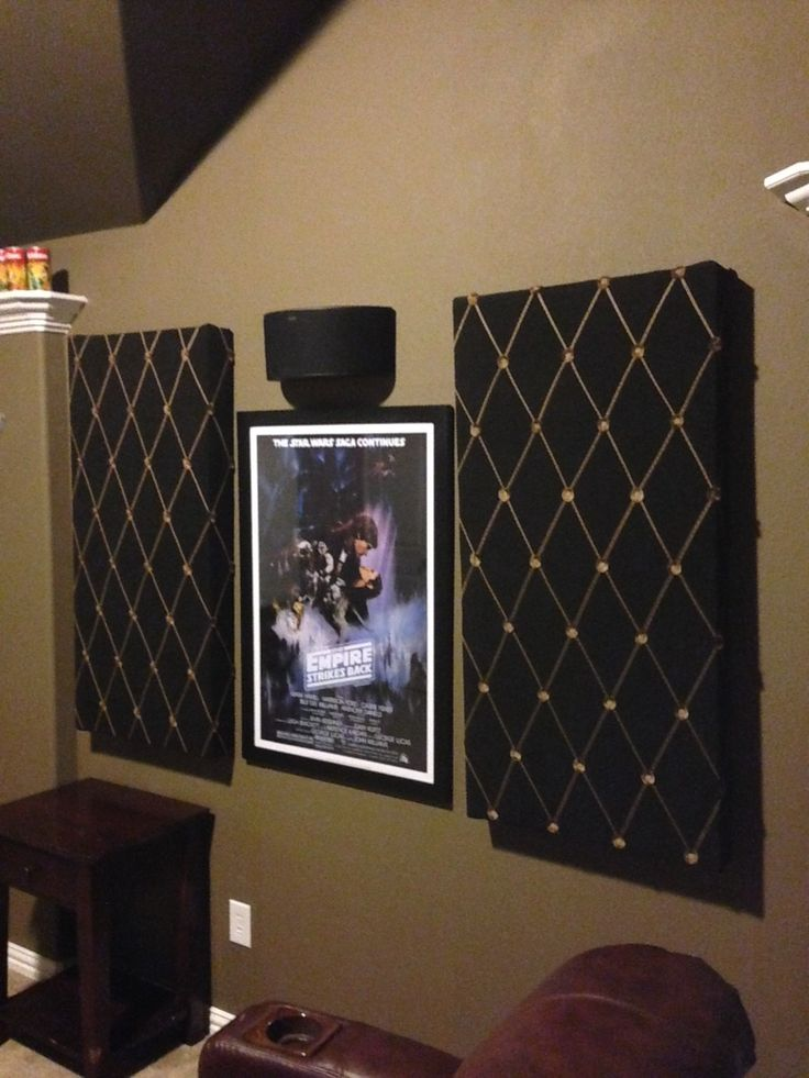 Sound absorbing panels I made for the media room.
