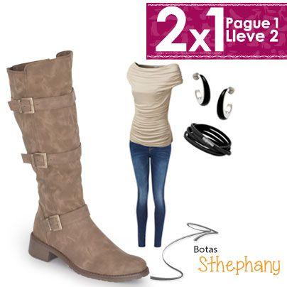 Recuerda que las botas son tus aliadas a la hora de divertirte con tus looks y los jeans son los elementos ideales para combinar con las botas Stephany.