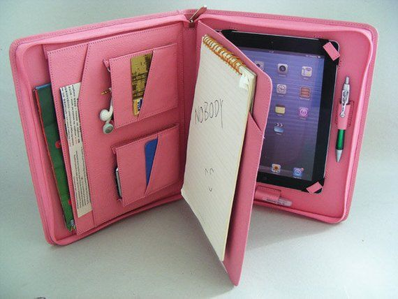 Lilly Pulitzer Style Pink Folio Smart Case For iPad 5 6 Mini 1 2 3 Air