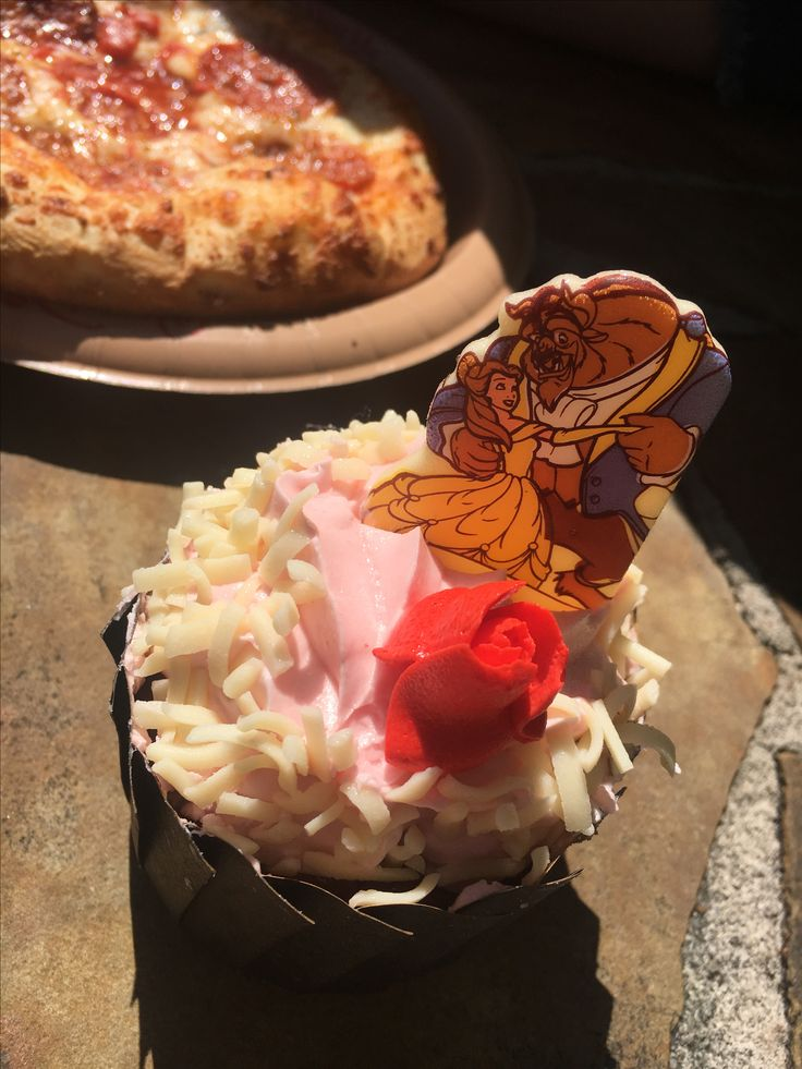 Cupcake and pizza ~ Band Trip to Disney World