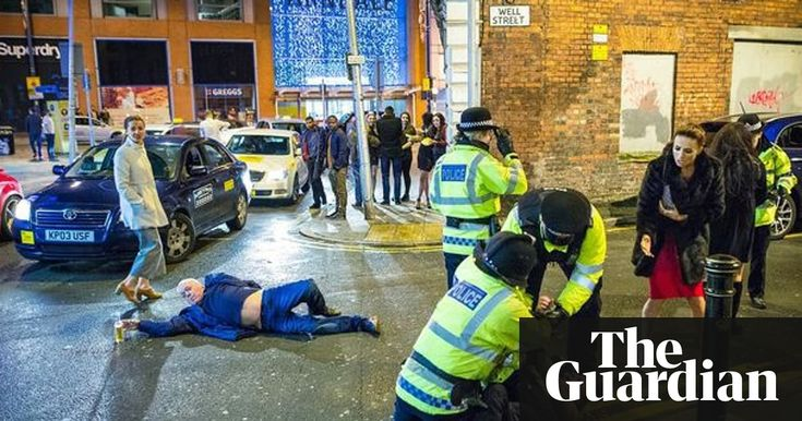 A photograph depicting New Year's Eve celebrations gone wrong in central Manchester has been compared to a Renaissance masterpiece