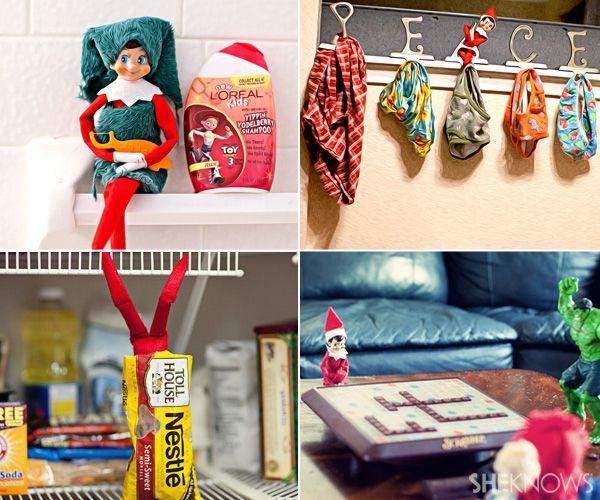 Elf on the Shelf ideas...best ones yet!