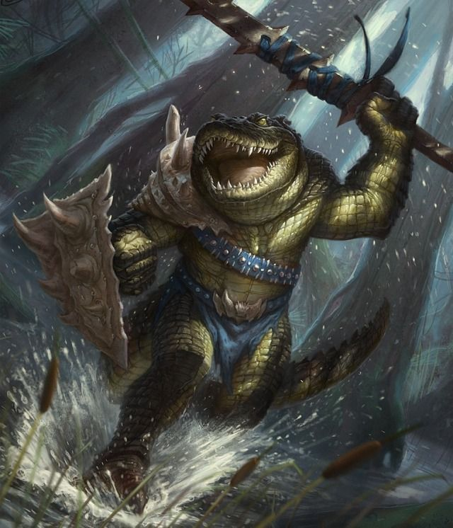 Crokodan Marauder. The Crokodan are highly territorial and enjoy the taste of flesh. Swimming in their territory is a death sentence, but taking a stroll can be just as dangerous.