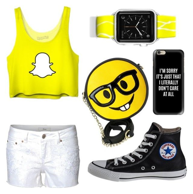 """""""Snapchat Saturday"""" by aamanigk on Polyvore featuring Dex, Casetify, Converse and OLIVIA MILLER"""