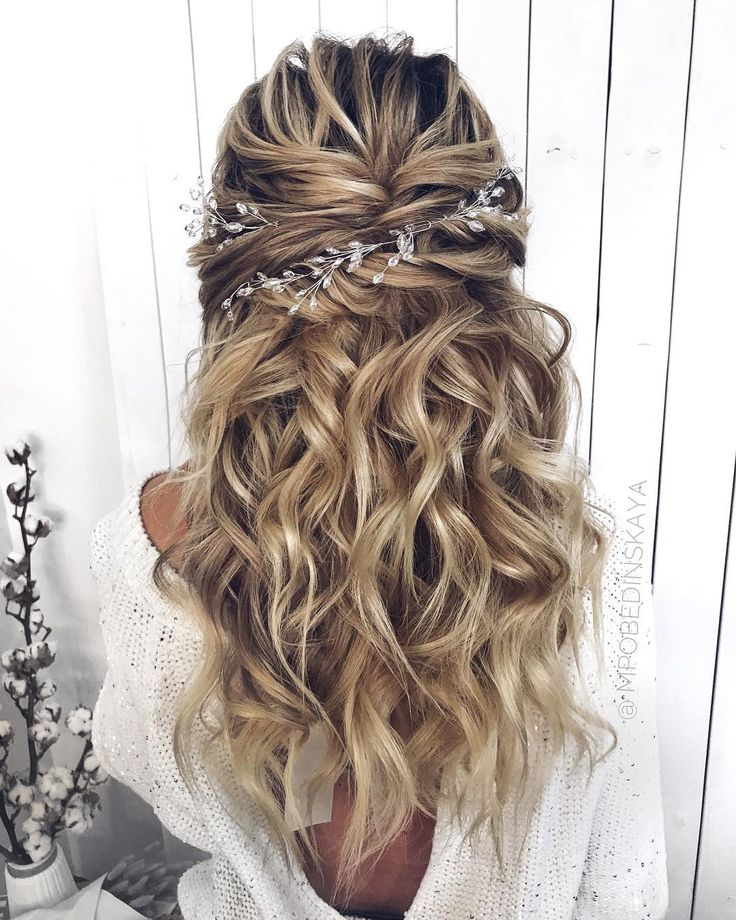 hottest long wedding hairstyles and updos from instagram; #wedding #weddings #weddinghairstyles #weddingideas