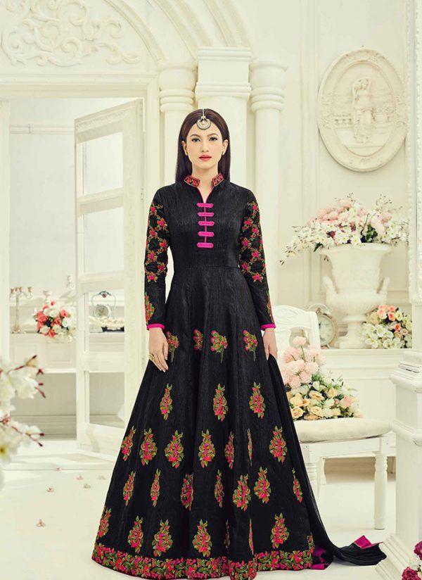 Black Colored Designer Anarkali Floor Length Suit