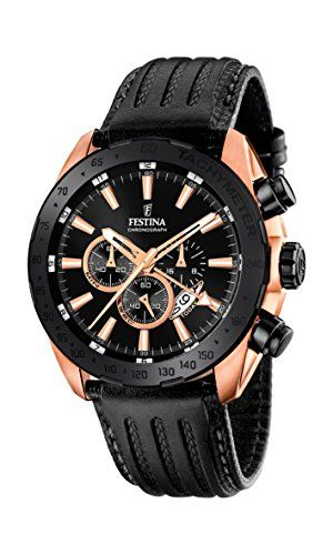 Festina Herren-Armbanduhr Black and Blue Analog Quarz Leder F16900/1 - http://on-line-kaufen.de/festina/festina-herren-armbanduhr-black-and-blue-analog-1-2