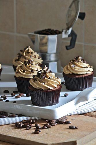 Cupcakes al cioccolato e caffè