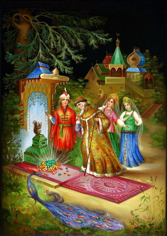 Russian lacquer miniature from the village of Fedoskino.