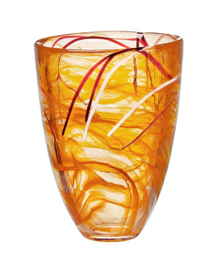 Kosta Boda Vase Contrast Orange Orange Themes