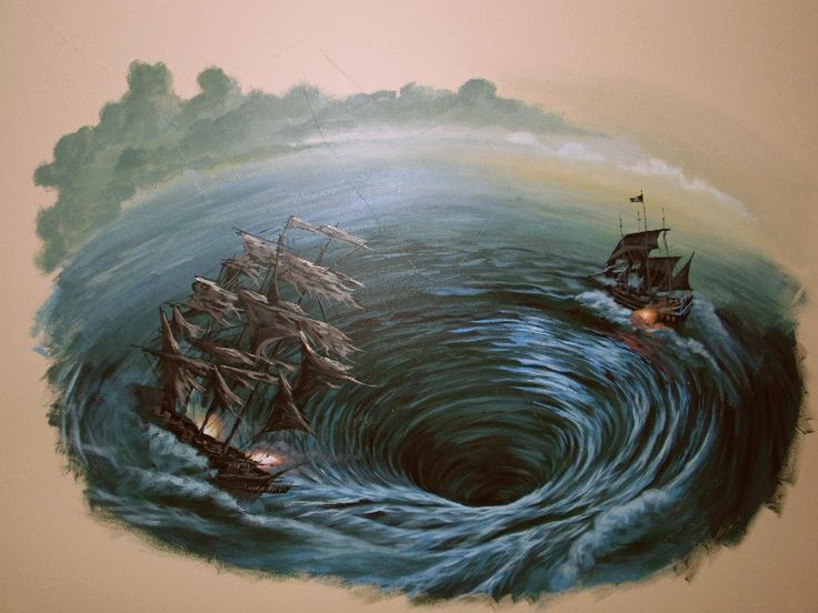 Pirate Ship Whirlpool Battle Mural Boy S Roomhttp Www