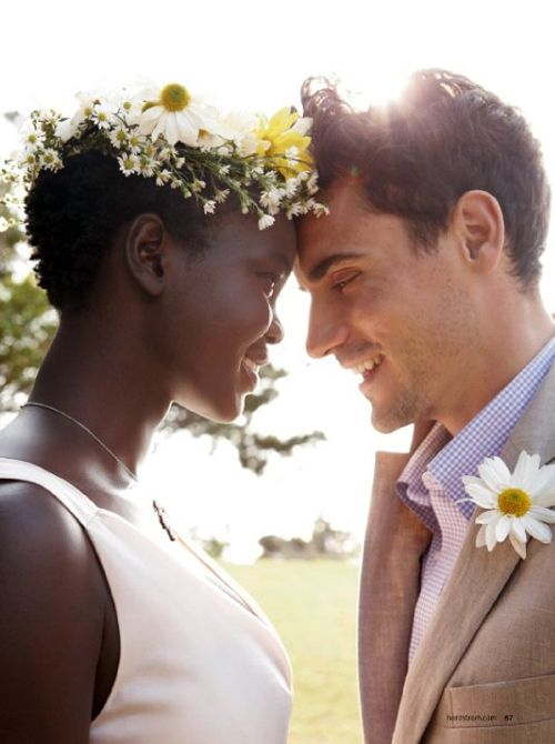 View of white women in interracial relationships