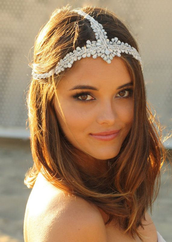 boho wedding headpiece