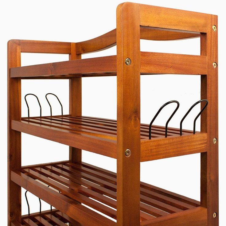 Rack Shoe Storage Strong Wooden Robust Storing Cabinet Furniture Tropical Acacia #HomeCollection