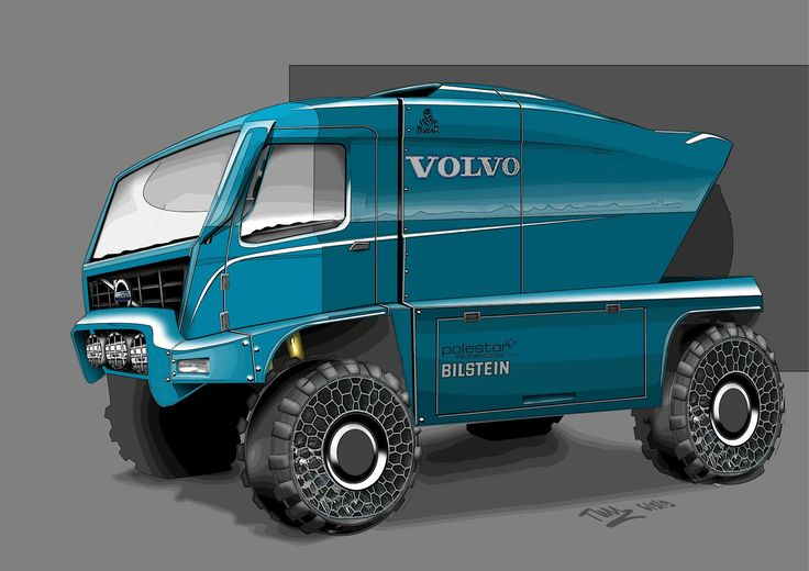 Volvo truck designed for Dakar rally. A creation of TAW Design.