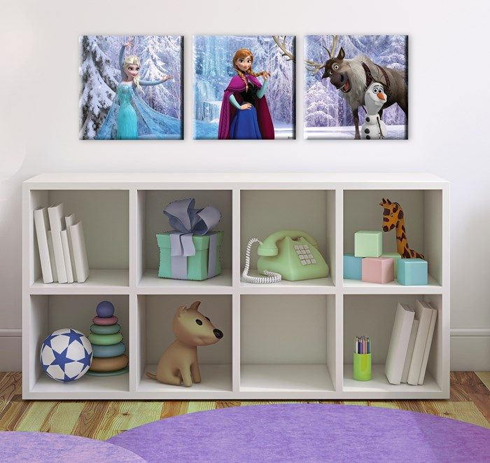 Frozen Scene Box Art set of 3 Kids Decor by Graham and Brown