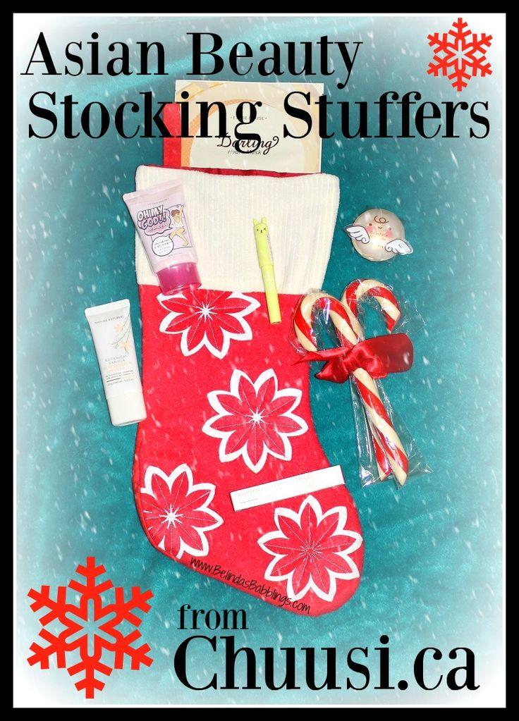 Asian Beauty Stocking Stuffers from Chuusi.ca
