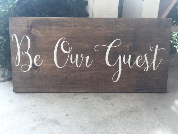 Be Our Guest Sign Guest Room Welcome Wedding by HouseOfJason