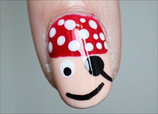Pirate Nail Art Tutorial
