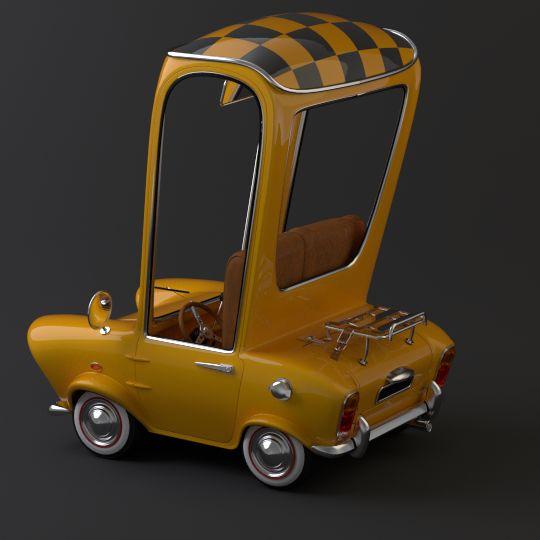 Cartoony Car [illustration] by Stanislas Paillereau, via Behance