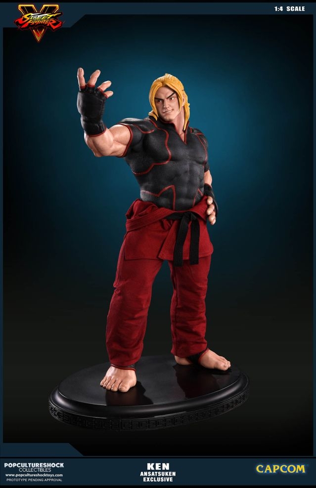 Ken Masters Mixed Media Statue by Pop Culture Shock - Ansatsuken Exclusive