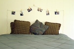 We found a REALLY cheap headboard idea!