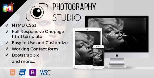 Responsive One Page Photography Template especially for the Photographers. Guys check the demo here you will love it http://bit.ly/2nMxpCR