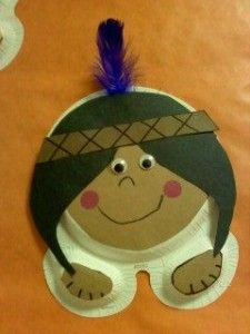 paper plate indian