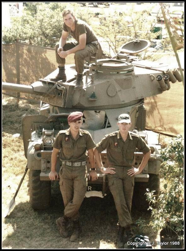 SADF Eland 90 with crew during South African Border War.