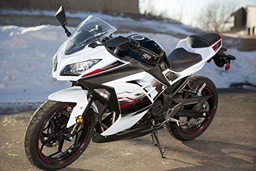 Black White Red Complete Fairing Injection for 2013-2015 Kawasaki Ninja 300 2014